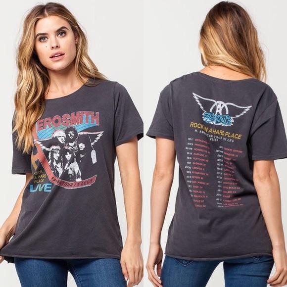 ab31174a9 Junk Food Clothing Tops   Junk Food Aerosmith Vintage Tshirt Xs ...